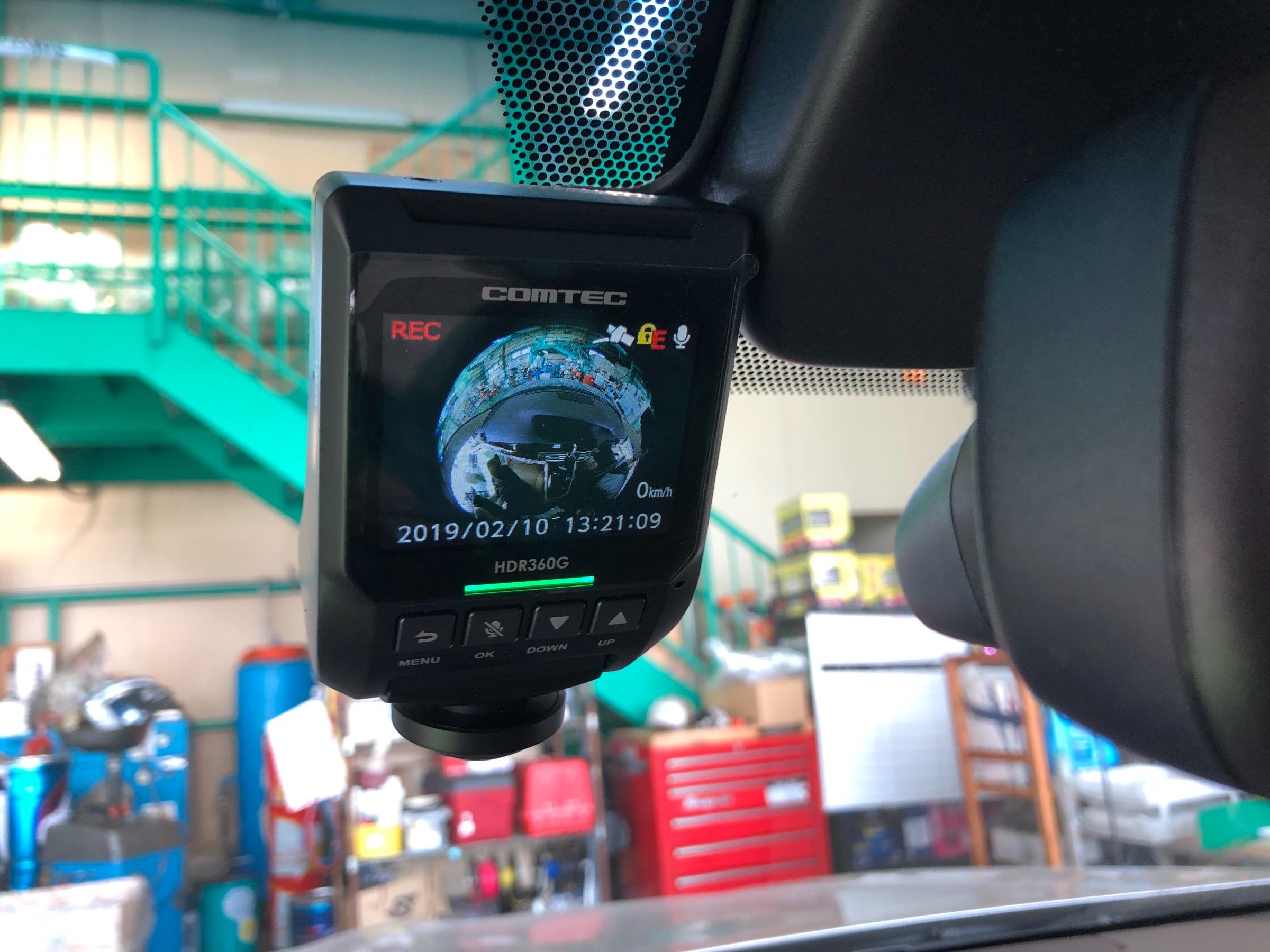 コムテック ドライブ 360 レコーダー