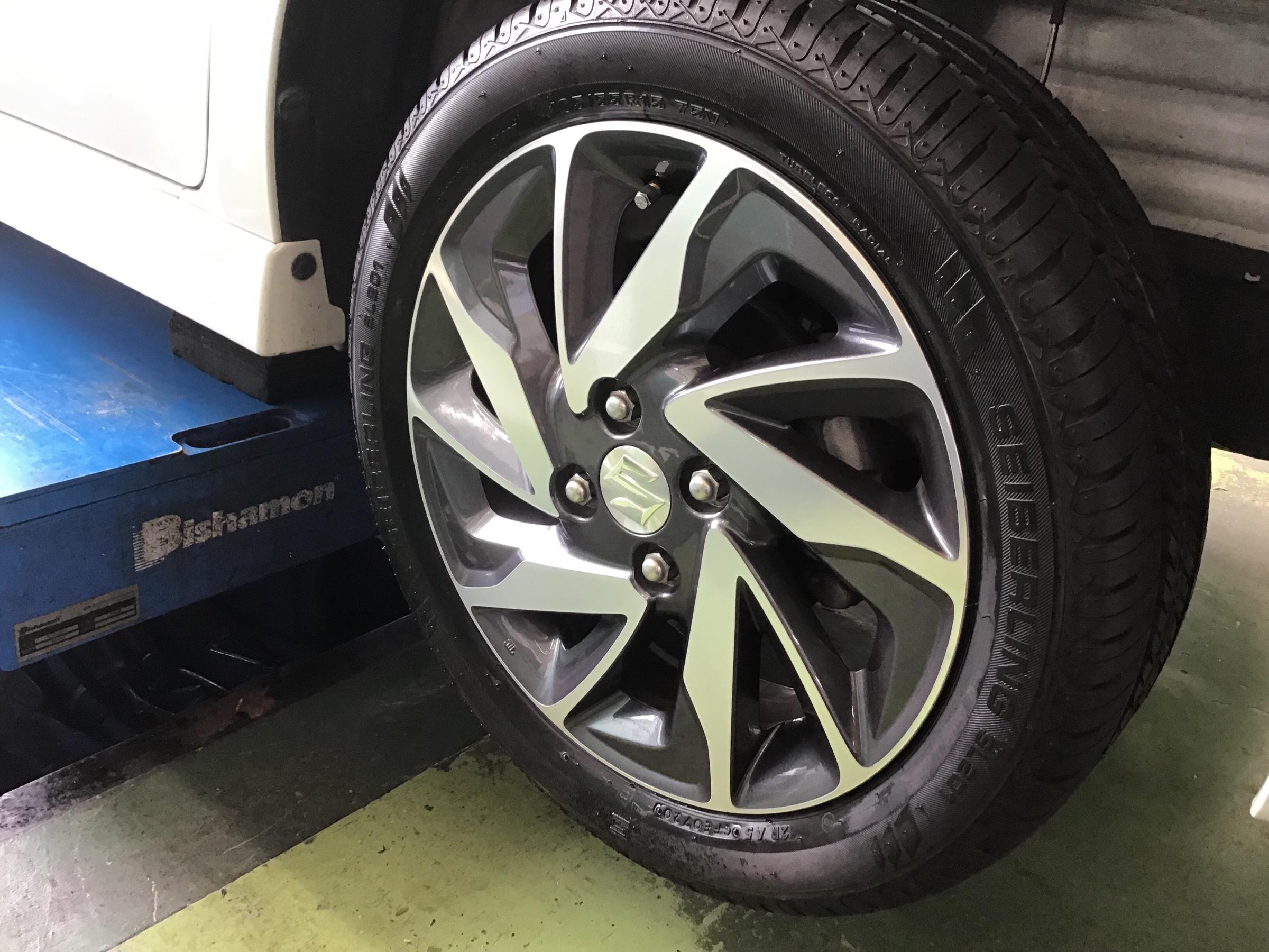 カスタム タイヤ サイズ スペーシア